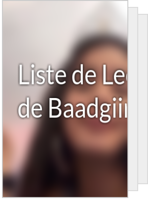Liste de Lecture de Baadgiirlz13