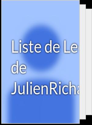 Liste de Lecture de JulienRichard5