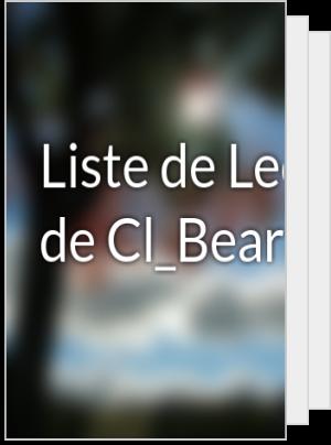 Liste de Lecture de Cl_Bear11