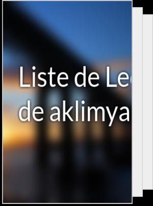 Liste de Lecture de aklimya