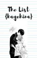 The List (KageHina) by SunshineBlueberry