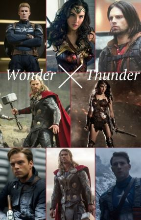 Wonder and Thunder (Wonder Woman and Marvel's Avengers - Thor pairing) by insaneredhead