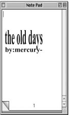 the old days by mercury-