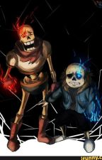 Undertale: Sans x Chubby Reader x Papyrus by I_escape_with_music