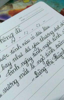 Những bài thơ của tôi
