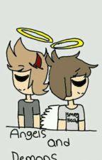 Angels and demons (tordedd) by Moondoodledraws