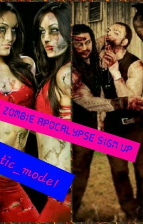 wwe zombie apocalypse sign up  by lunatic_mode1