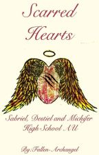 Scarred Hearts (Sabriel, Destiel, and Michifer High School AU) by Fallen-Archangel