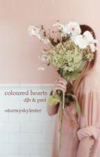 coloured hearts ; pml & djh by -sunflowerhowell