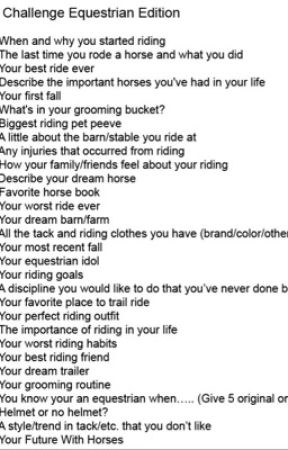 30 day Equestrian Challenge by lenalou123