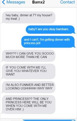 [IMAGINE- GOT7] Let's text, babe~