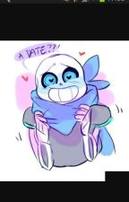A CUTE LOVE!!💗-(blueberry sans x reader) by Geno_Sansy