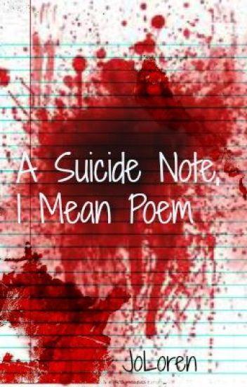 suicide note poem