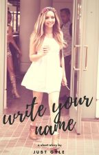 Write Your Name || Jerrie by gyle09