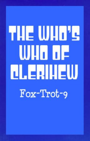 The Who's Who of Clerihew by Fox-Trot-9