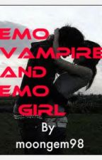 the vampire Emo and the Emo girl!! by moongem98