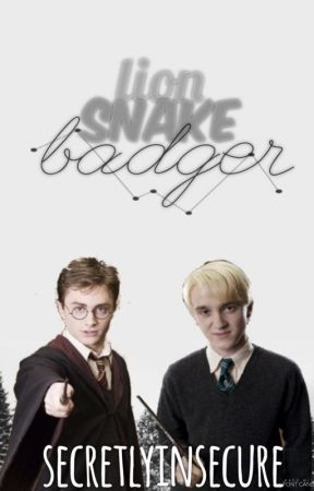 Lion; Snake; and Badger  { Harry x Reader x Draco } by obscureheart-