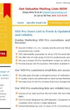 VSS Pro users email addresses list by DunlopMarketinggroup