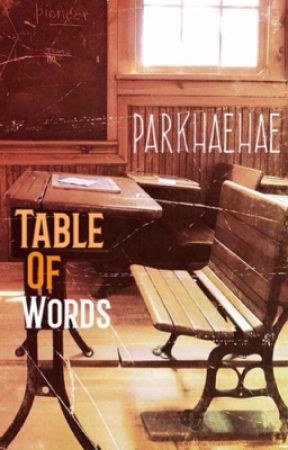 Table of words by parkhaehae