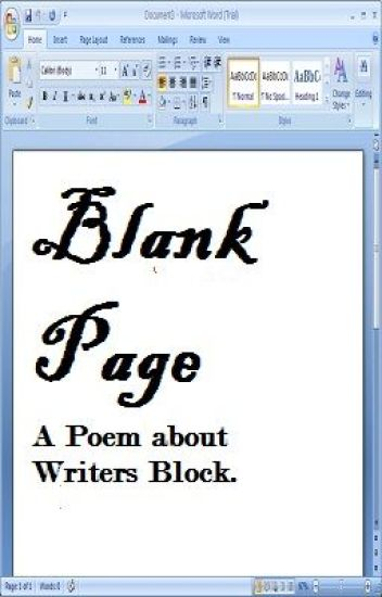Blank Page - A poem about writers block