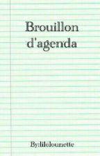 Brouillon D'agenda by lilelounette