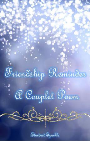 Friendship Reminder | A Couplet Poem by NightlyMaiden