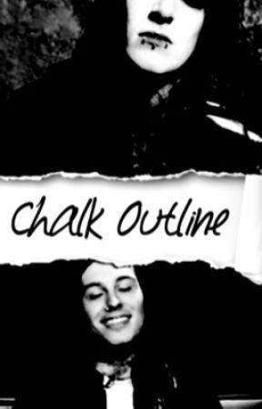 Chalk Outline    Cyan by S_yny_ster