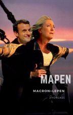 mapen  ― emmanuel macron & marine le pen by jmleane