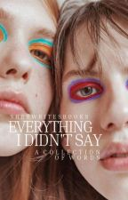 Everything I Didn't Say by Sherwritesbooks