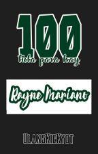 100 Tula Para Kay Rayne Mariano  by ulanskiekyot