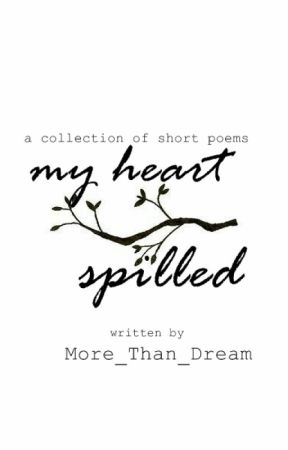 My Heart Spilled: Collection of short poems   #Wattys2017 by Solanki_Romil