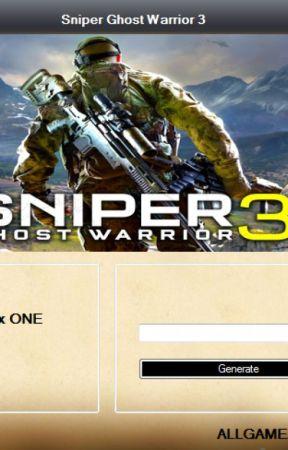 Sniper Ghost Warrior 3 Redeem Code Generator by Leslywatton