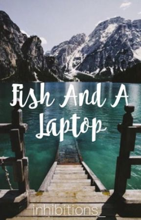 Fish and a laptop  by inhibitions_