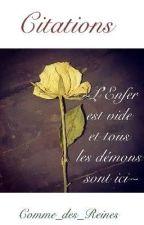 ♤Citations♤  by Comme_des_Reines
