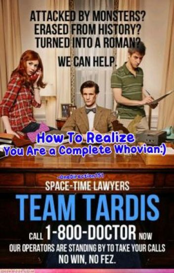 How you realize that you are a complete whovian