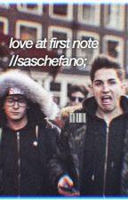 love at first note//saschefano;  by Gaioh_