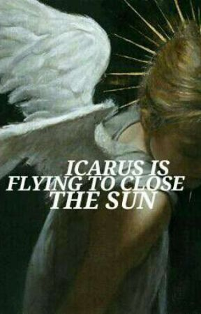 ICARUS IS FLYING TO CLOSE TO THE SUN by THELASTABEDABUNNY
