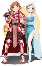 Elsa and Anna: The queen and her knight by elsannalover23