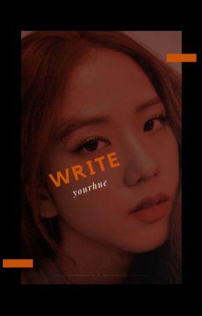 write by jenlisaesthetic