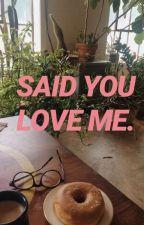 Said you love me  by PeachArrival