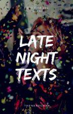 late night texts ÷ yoonmin by thenekochan