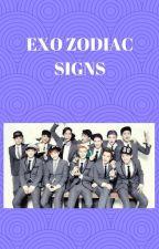 EXO zodiac signs by emmy_28_