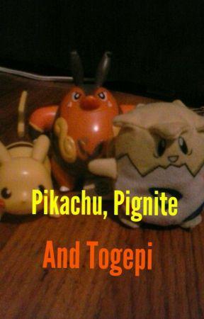 Pikachu, Pignite, and Togepi by LittleLitten11