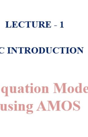 Statswork- Lecture:1: Structural Equation Modeling (SEM) using AMOS by statswork