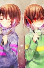 Between Two Girls (Female! Frisk AND Female! Chara x Male! Reader) by Im___A___Person