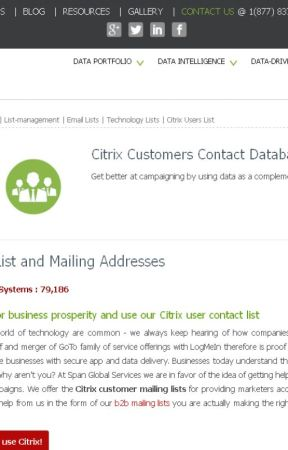 Citrix Users Email List by technologylist