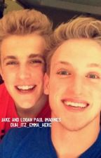 Jake and Logan Paul imagines by heyy_itz_emma_here