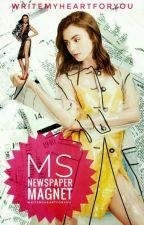 Ms. Newspaper Magnet (Lesbian) by WriteMyHeartForYou