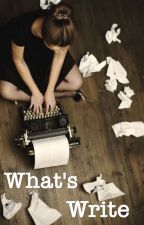 What's Write [COMPLETED] by joymoment
