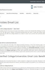 college email list by erinshawl